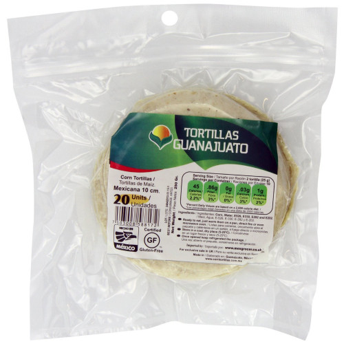 10cm White Corn Tortilla Mexicana Zip-Lock