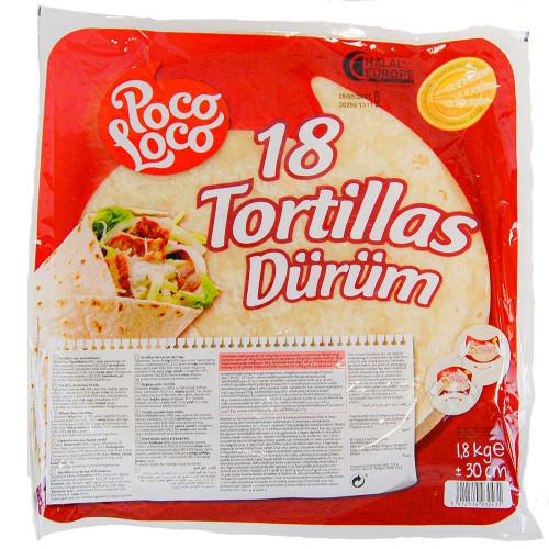 """12"""" Flour Tortilla 6x18 Case"""