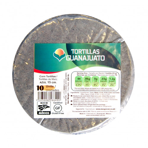 15cm Blue Corn Tortilla Zip Lock 40x10 Case