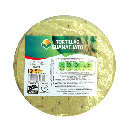 15cm Cactus Corn Tortilla Zip Lock 30x12 Case