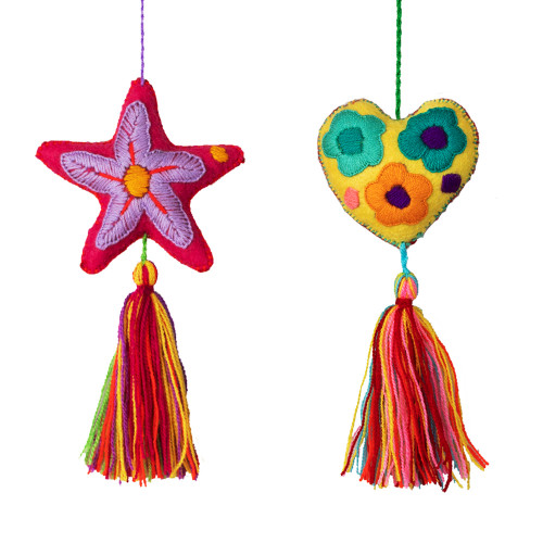 Christmas Ornaments Star & Heart