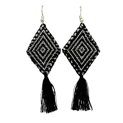 Mexican Kite Nero Black Earrings