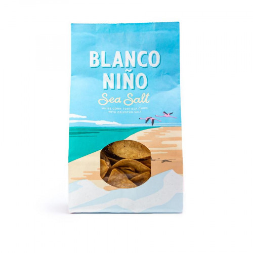 Blanco Nino Sea Salt White Corn Tortilla Chips 12 x 170g