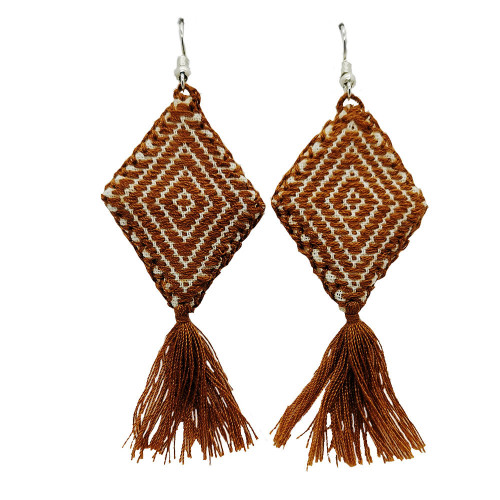 Mexican Kite Cappuccino Brown Earrings