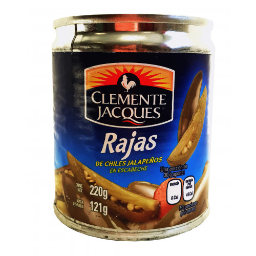 Clemente Jacques Jalapeno Chillies in Slices 220gr