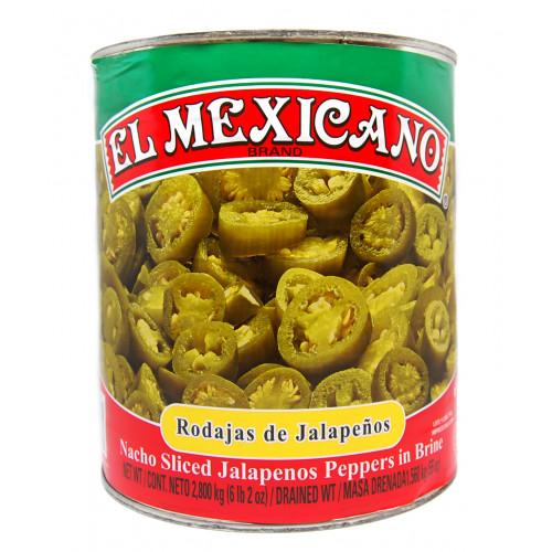 El Mexicano Jalapeno Nacho Slices 6x2.8kg Case