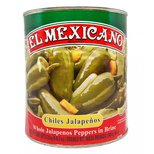 El Mexicano Jalapeno Whole 6x2.8kg Case