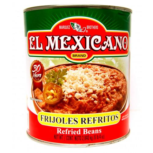 El Mexicano Pinto Beans Refried 6x3kg Case