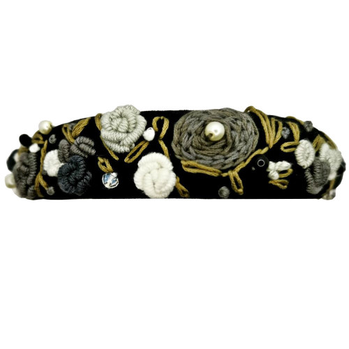 Frida Kahlo Black & Grey Headband