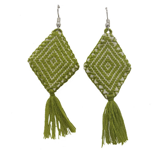 Mexican Kite Olive Green Earrings