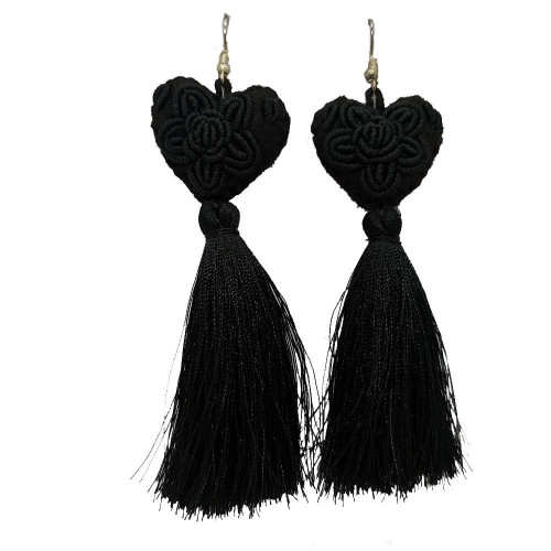 Heart Pompoms Earrings