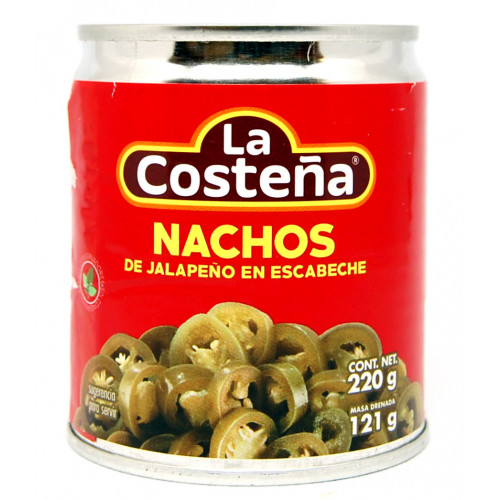 La Costena Jalapeno Nacho Slices 24x210g Case