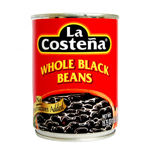 La Costena Black Beans Whole 12x560g Case