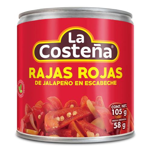 La Costena Jalapeno Red Slices 199g
