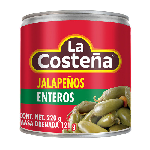 La Costena Jalapeno Chillies Whole 220g
