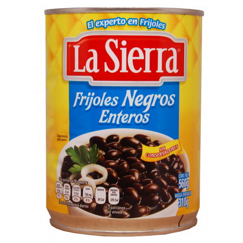 La Sierra Black Whole Beans 12x560g Case