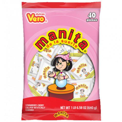 Manita De La Fortuna Lollipop 40x16g Bag
