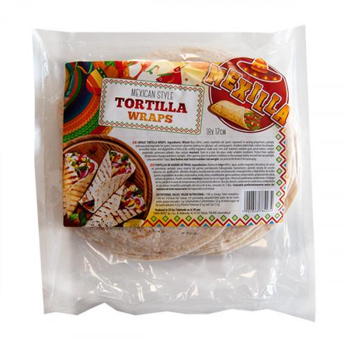Mexilla 17cm Flour Tortilla 18 units