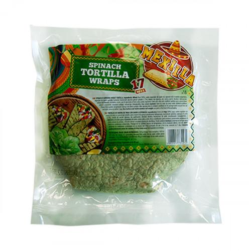 Mexilla 17cm Flour Spinach Tortilla 18 units