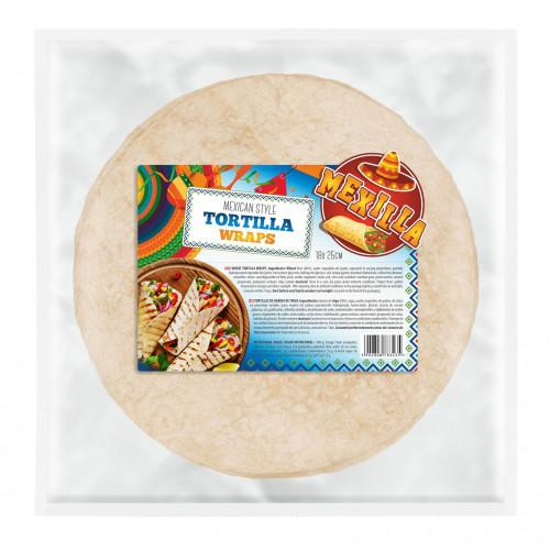 70g Mexilla 25cm Flour Tortilla 18 units