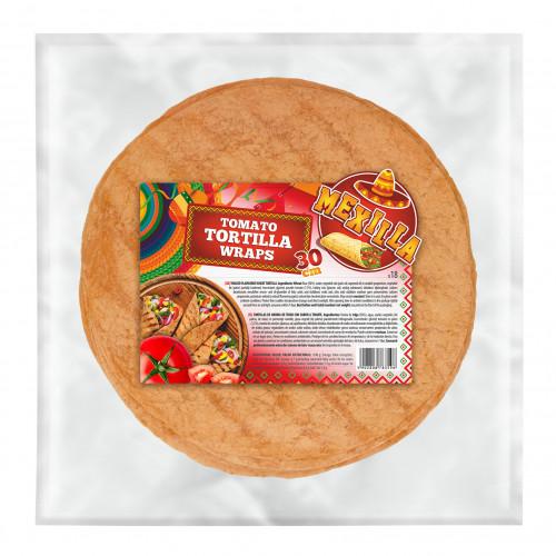 Mexilla 30cm Flour Tomato Tortilla 18 units