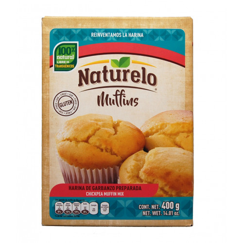 Naturelo Chickpea Muffin Mix 12x400g Case