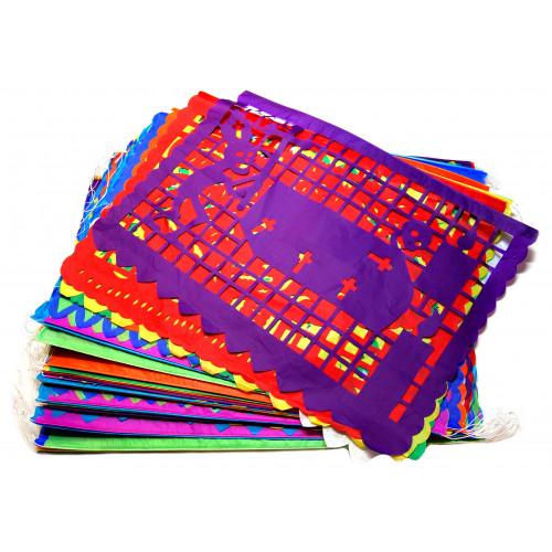 Papel Picado Multi Coloured Paper 50 sheets (45 x 35 cm)