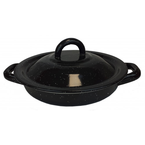 Tortilla Warmer Pewter Black 18cm
