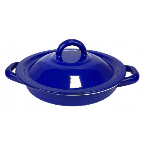 Tortilla Warmer Pewter Blue 18cm