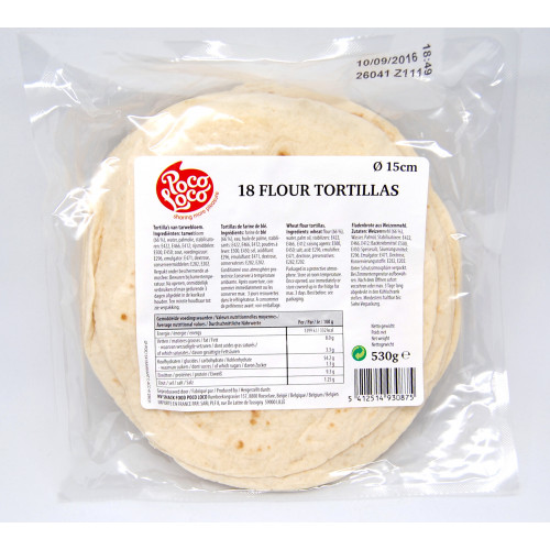 "6"" Flour Tortilla 12x18 Case"