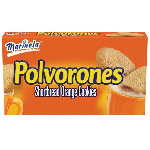 Marinela Polvorones Shortbread Orange Cookies 19 x 74g