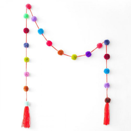 Pom pom Garland pack of 2.