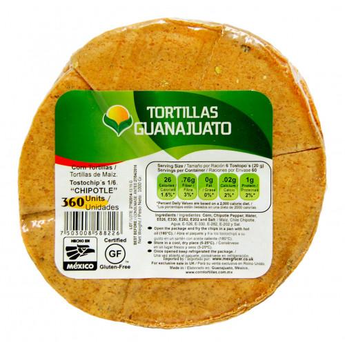 Pre Cut Chipotle Corn Tortilla for Frying 10x1kg Case