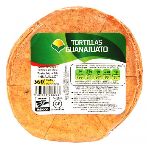 Pre Cut Guajillo Corn Tortilla for Frying 1kg