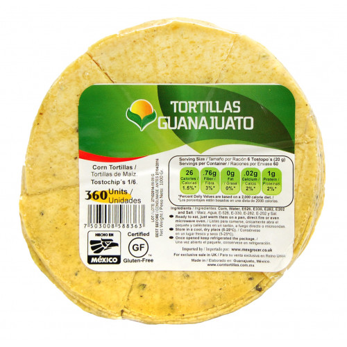 Pre Cut Yellow Corn Tortilla for Frying 15cm 1kg