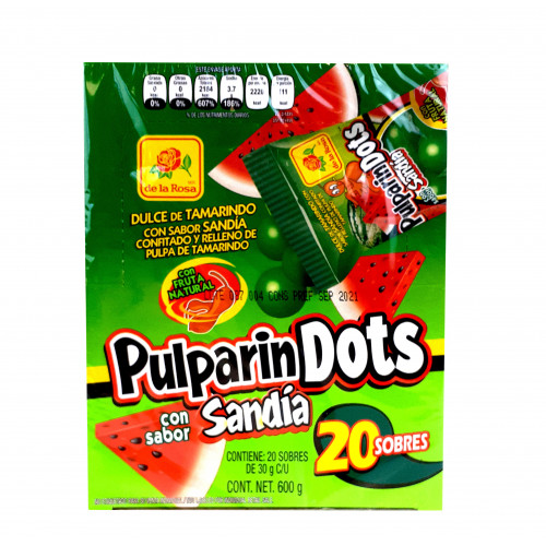 Pulparindots Watermelon 16 x 600g