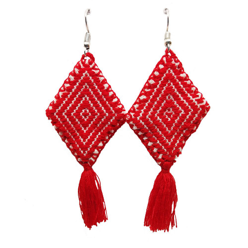 Mexican Kite Strawberry Red Earrings