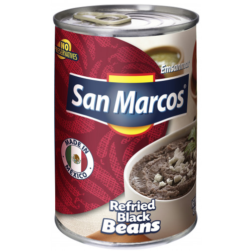 San Marcos Black Refried Beans 6x430g Case