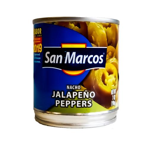 San Marcos Jalapeno Nacho Slices 24  x 198g Case