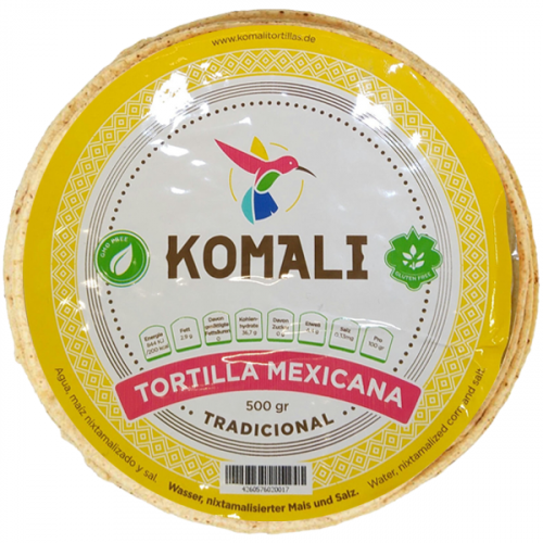 Komali Tradicional Tortilla 20x500g Case
