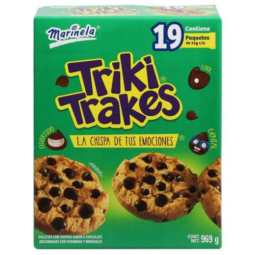 Marinela Triki-Trakes Chocolate Chip Cookies 19 x 51g