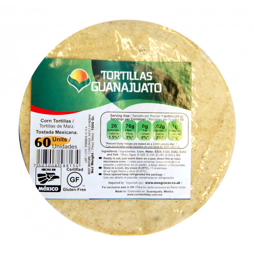 15cm Yellow Corn Tortilla for Frying 10x1kg Case