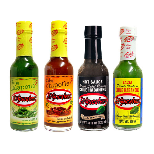 Sauce Lovers Gift Pack El Yucateco 4 Units
