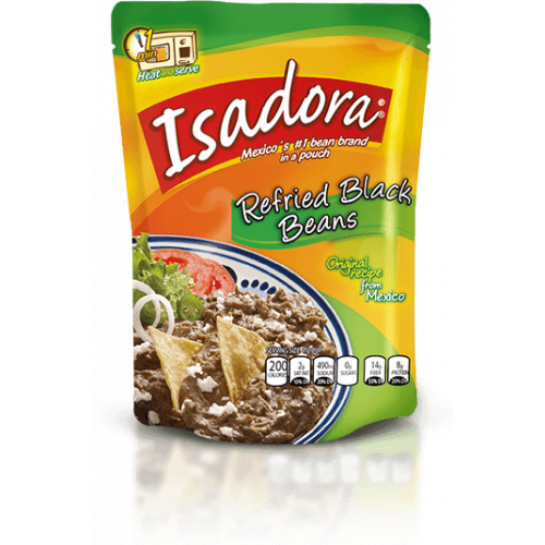 Isadora Black Refried Beans 400g