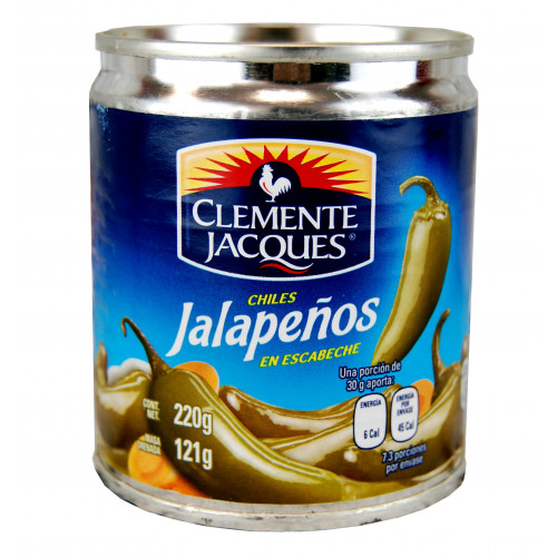 Clemente Jacques Jalapeno Whole 24 x 220g Case