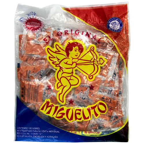 Miguelitos Chile powder Bag with 100 (4g each)