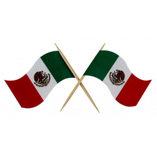 Mini Mexican flags 50 pack