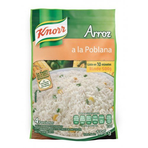 Knorr Poblano Rice 12 x 160g Case